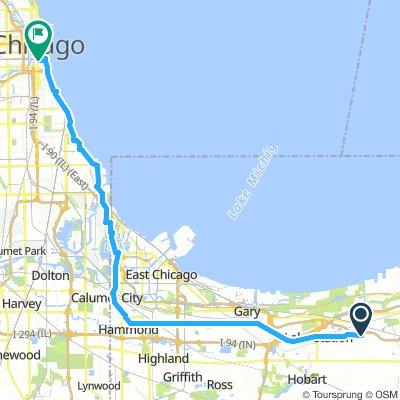 Portage to Chicago