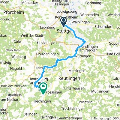 Hohenzollern-Radweg Tour 1 (Stuttgart - Bodelshausen)