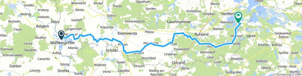 2. Tag: Mühlberg - Senftenberger See
