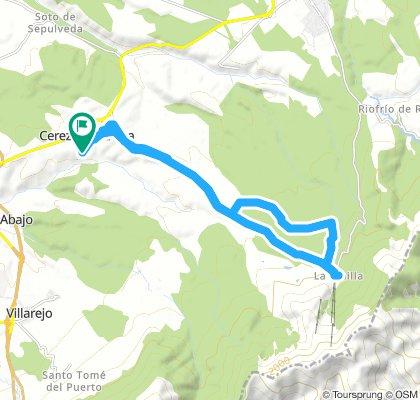 Pinilla: camino, carretera y camino