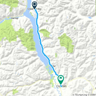 1of12 BC - 11a Crawford Bay, BC to Creston, BC (Pair-A-Dice RV Park and Campground) 77km