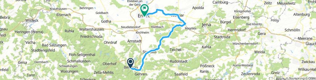 2018-08-25: Ilmenau - Weimar - Erfurt