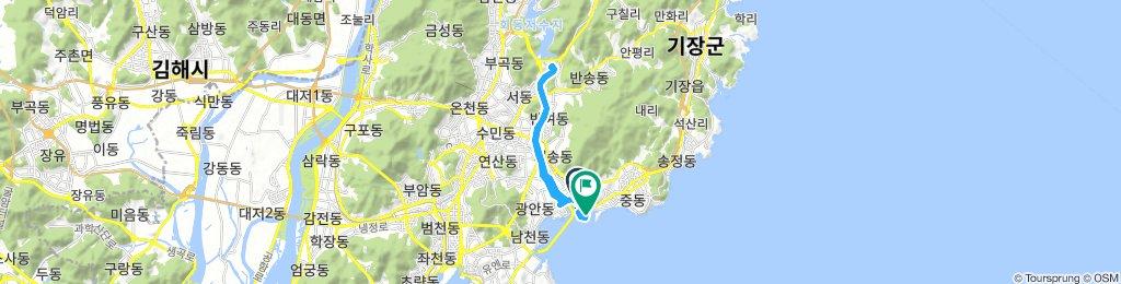 In Haeundae river