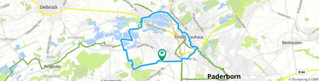 Seenlandschaft und Schloss - 19 km