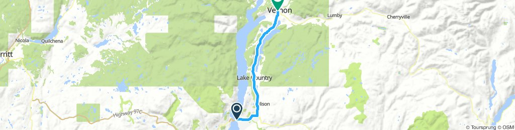1of12 BC - 08 Kelowna, BC to Vernon, BC (Schell Motel Express) 55km