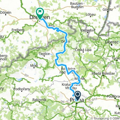 Prag til Dresden á hjóli