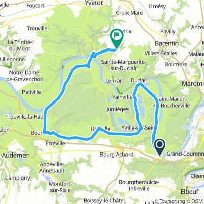 0.4 La Bouille Sainte Marg' par pont de Brotonne 100 km