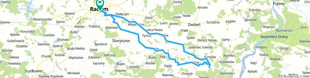 Radom - Ciepielów(Stary Kawęczyn) i z powrotem