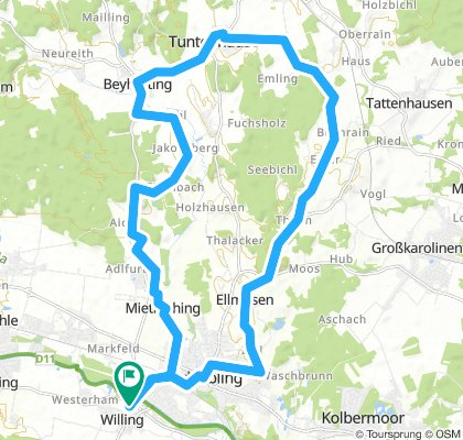 Route um Bad Aibling