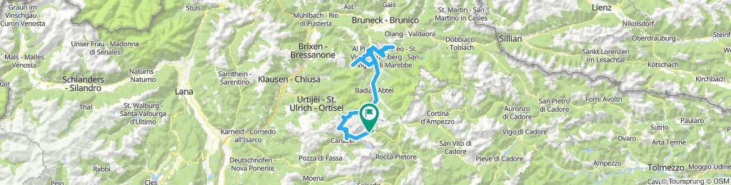 2019 Etapa 1: Pordoi, Sella, Gardena, Passo del Erbe, Paso Furcia, extra Plan de Corones,