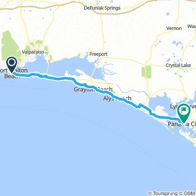 Fort Walton Beach, FL to Panama City, FL
