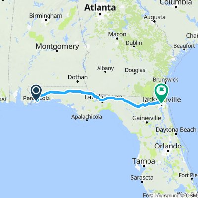 Cycling routes and bike maps in and around Pensacola ... on