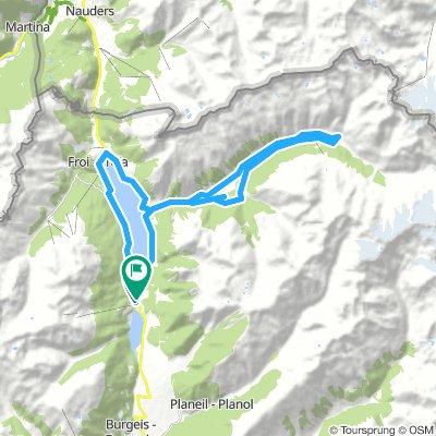 2018/08/21 MTB-Tour: Von St. Valentin über eine Reschenseerunde ins Langtauferstal an die Melager Alm und zurück
