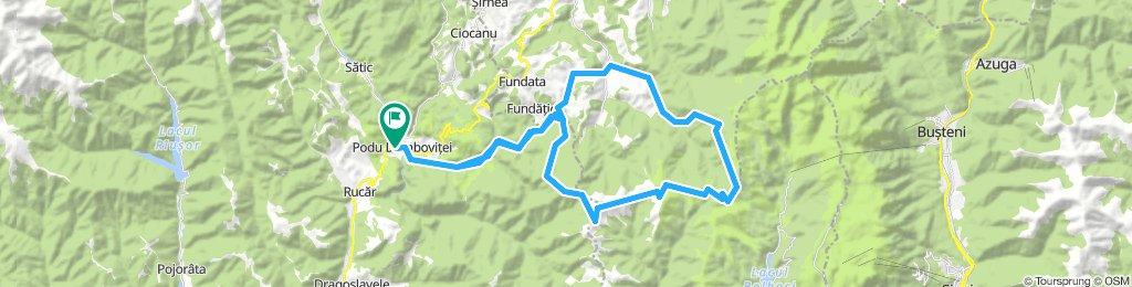 Podul Dâmboviței - Fundatica - Refugiul Strunga - Moieciu
