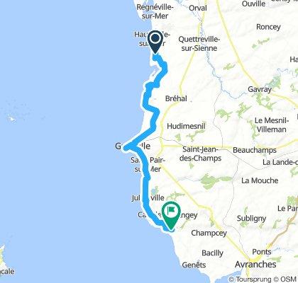 Blaineville to Saint Jean le Thomas