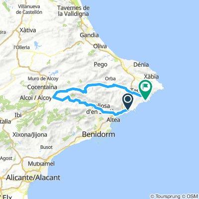 Calp - Callosa d'en Saria - Gaudalest - Confrides - Gorga - Castell de Castells Alcalali Benissa Moraira 115k