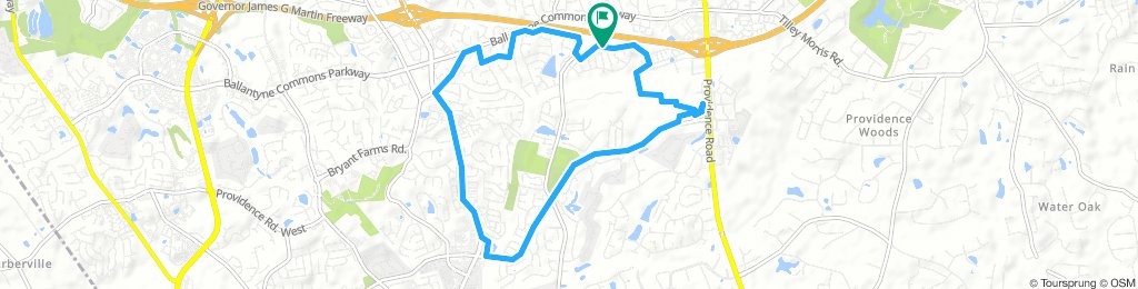 afternoon exercise route 09052018