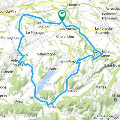 Les Abrets, circuit 61 km