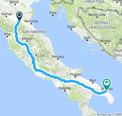 Bologna til Brindisi