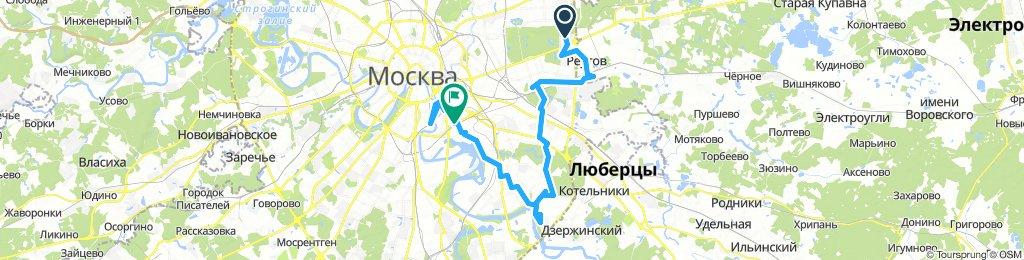 Деловые велокурьерские поездки ч1
