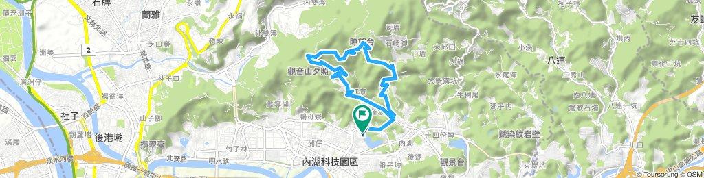 慢跑 碧湖-金龍產業道路-碧山巖-內湖路三段-碧湖