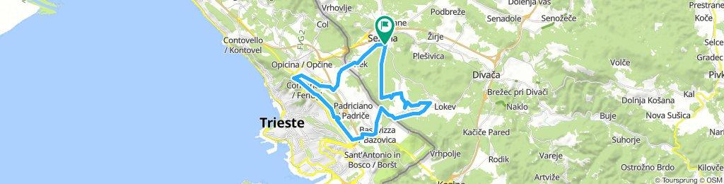 Sežana - Lipica - Lokev - Bazovica - Opčine - Orlek