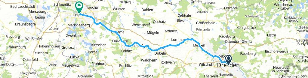 Dresden-Leipzig durchs Elbtal
