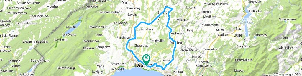 Lausanne-Belmont-Thierrens-Vufflens-Lausanne