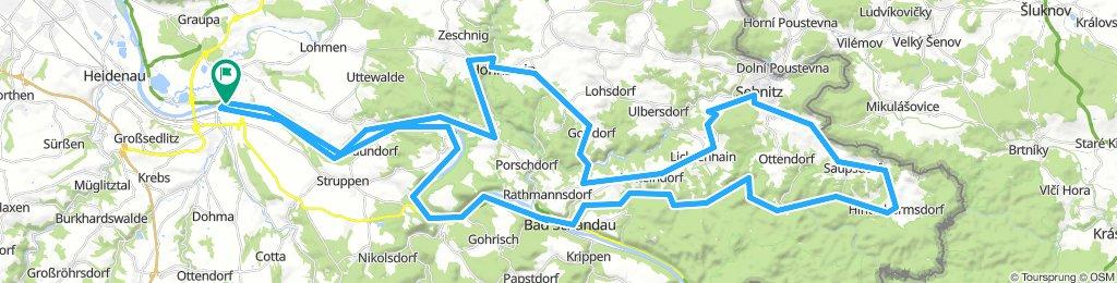 Pirna - Panoramastraße - Hinterhermsdorf - Elberadweg / Rennrad