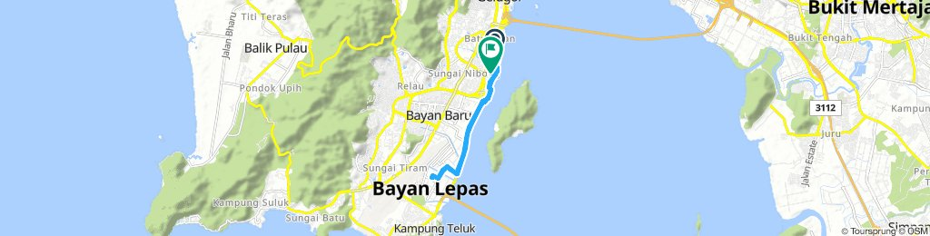 Lengthy Early Morning Route In Pulau Jerejak