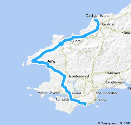 Around Wales - Day 7 - Manobier - Cardigan