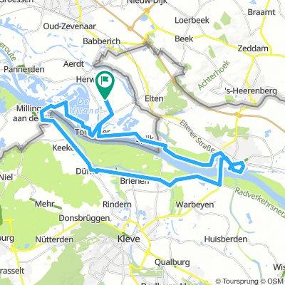 Niederrhein-Runde an der holländischen Grenze
