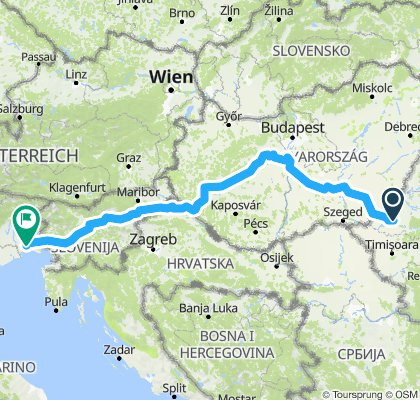 Energy Team route to Italy