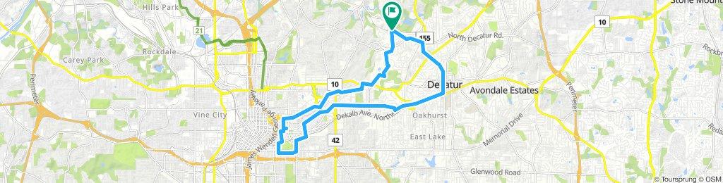 Freedom Park Trail-Octane-Cabbagetown-StoneMountain Trail-Decatur Loop
