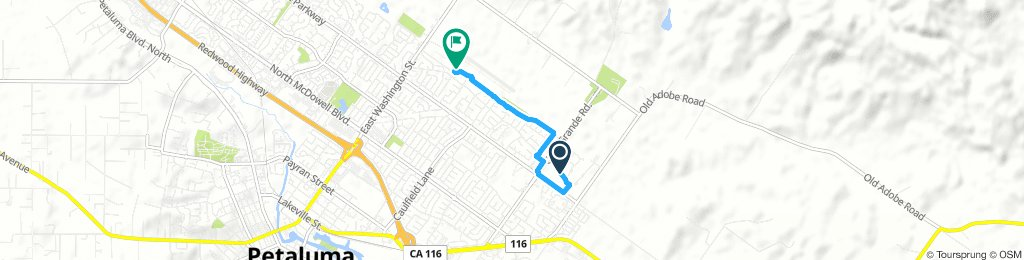 Quick Morning Track In Petaluma