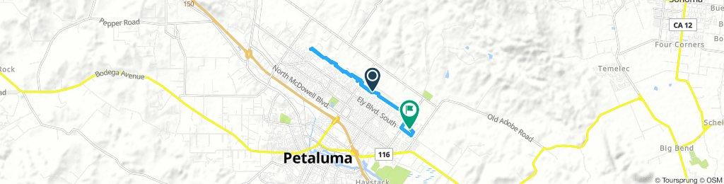 Moderate Sunday Ride In Petaluma