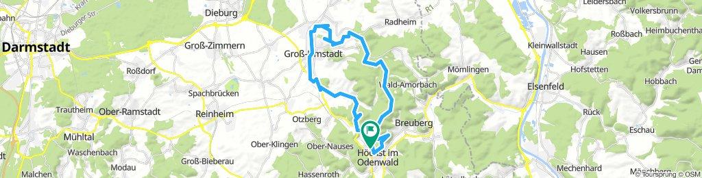 Frankfurter Straße-Binselberg-Wendelinuskapelle-Umstadt