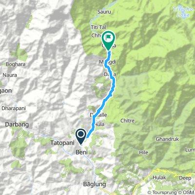 Upper Mustang: Beni - Ghasa