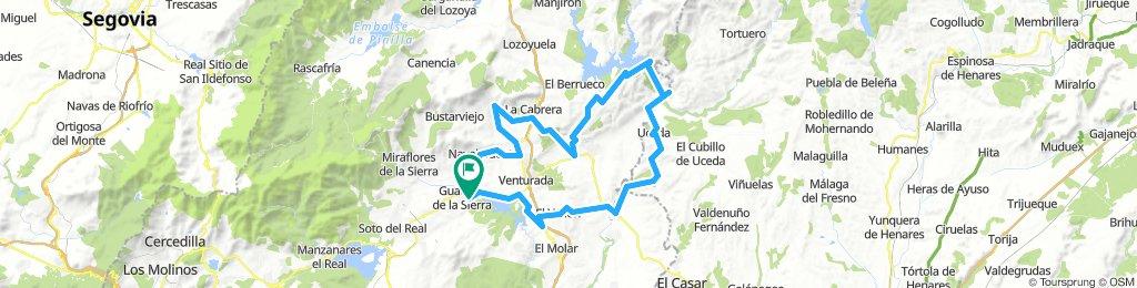 Guadalix-Navalafuente-Valdemanco-Trampilla-Atazar-Uceda-Caraquiz-El Espartal