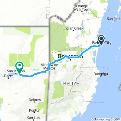 Belize to Tikal