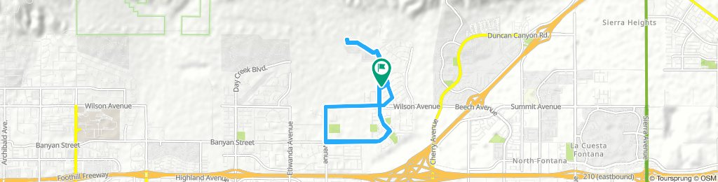 Spred Out Morning Track In Rancho Cucamonga