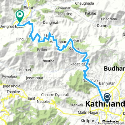 Balaju - Mudkhu - Tinpiple - Balaju - short ride | Bikemap - Your