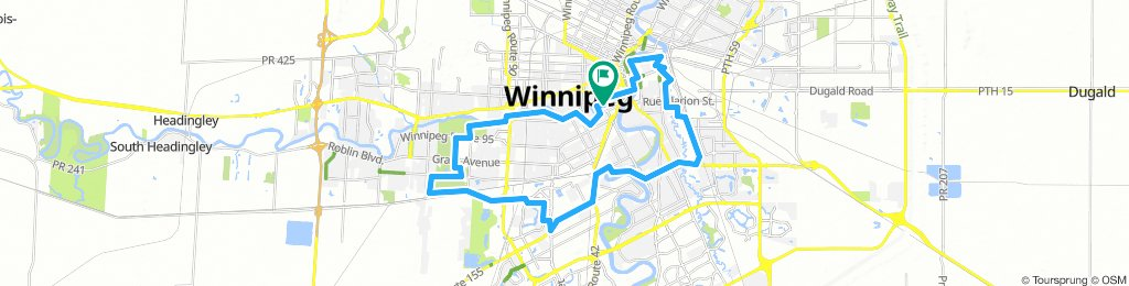 Lengthy Tuesday Route In Winnipeg