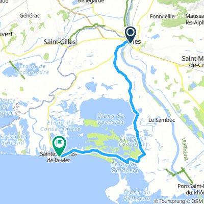 Arles To St Maries 55kms
