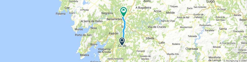 Cuntis to Santiago