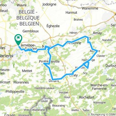 Fleurus-Namur-Leffe-Ciney-Huy-Namur-Fleurus