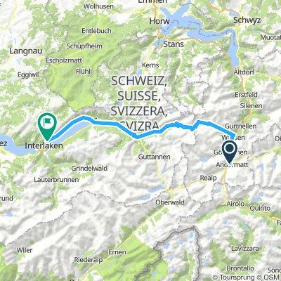 瑞士中部的山口-2 Andermatt-Sustenpass- Innertkirchen-Interlarken
