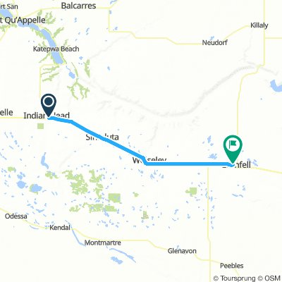 3of12 SK - 08 Indian Head, SK to Grenfell, SK (Grenfell Recreational Park Campground) 56km