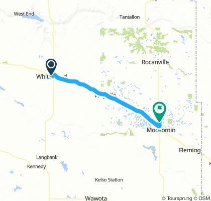 3of12 SK - 10 Whitewood, SK to Moosomin, SK (Fieldstone Campground & RV) 50km