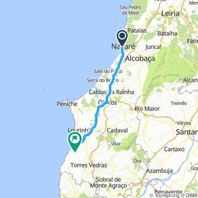 Nazare-Obidos-Bombardeira (Portugal)